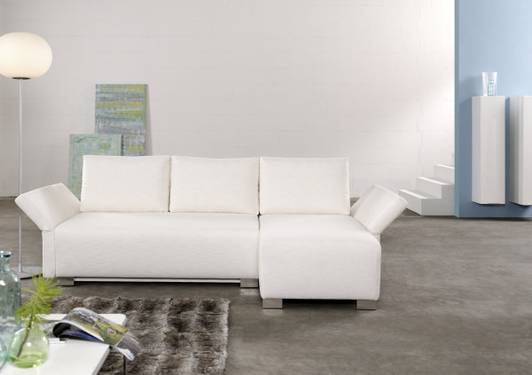 <strong>Schlafsofa MOVE 140</strong><br>mit Recamiere 70 cm