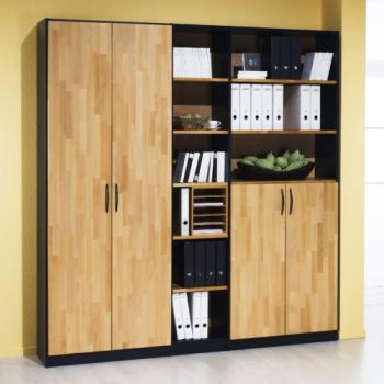 <strong>TREND - Büroschrank</strong><br>in Buche massiv
