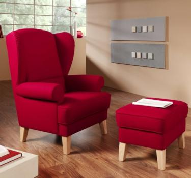 <strong>Sessel COUNTRY mit Hocker</strong><br>
